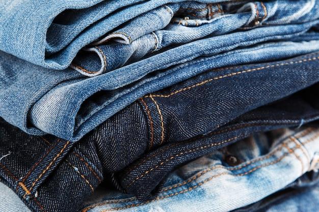 Pile de jeans Photo Premium