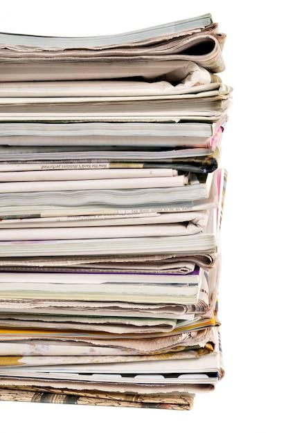 Pile de journaux Photo gratuit