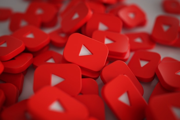 Pile de logos de boutons de jeu 3d Photo gratuit