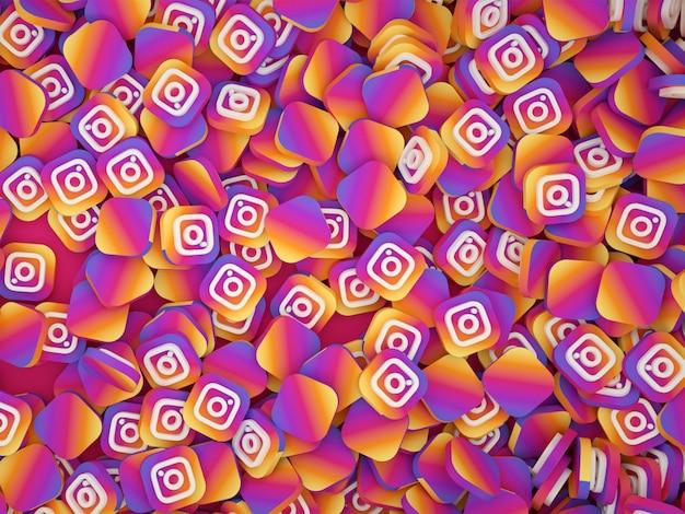 Pile De Logos Instagram Photo Premium