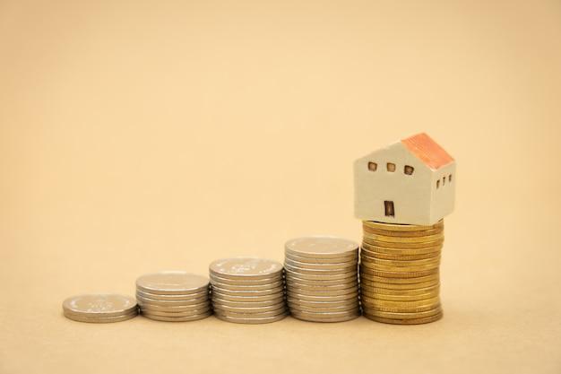 Pile de pièces tanalyse des investissements Photo Premium