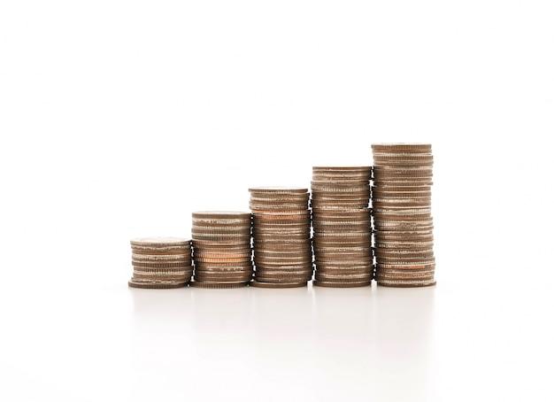 Piles de monnaie Photo gratuit