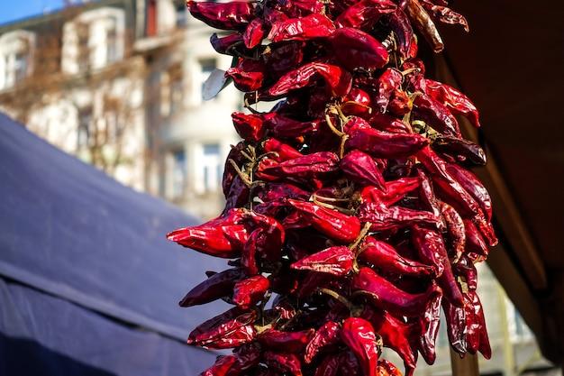 Piments rouges séchés Photo gratuit