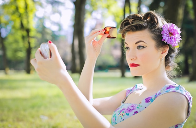 Pin-up fille stylée Photo Premium