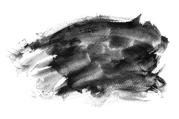 Pinceau aquarelle noir stokes, dessin à la main Photo Premium