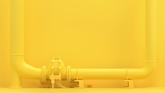 Pipeline Jaune Photo Premium