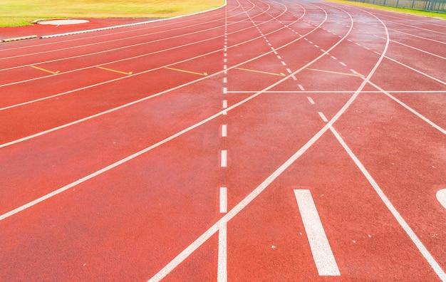 Piste d'athlétisme Photo Premium