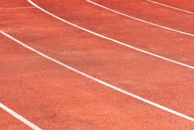 Piste de stade pour les compétitions de course et d'athlétisme Photo Premium