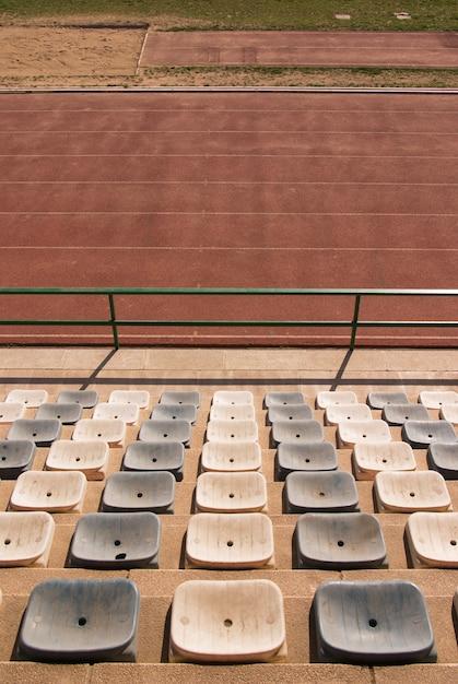 Pistes d'athlétisme sur le stade Photo Premium