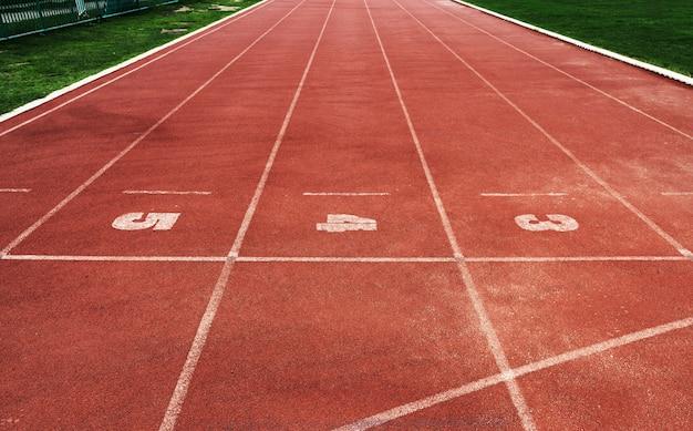 Pistes de course dans un stade Photo gratuit