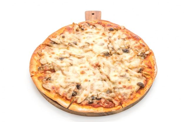 Pizza aux champignons avec sauce miso Photo Premium