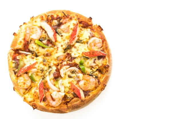 Pizza aux fruits de mer Photo gratuit