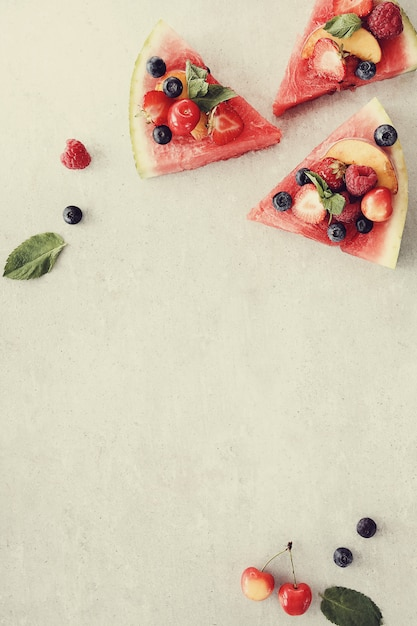 Pizza à La Pastèque Photo gratuit