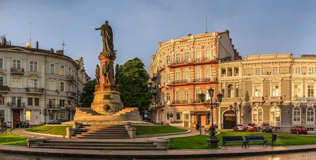 Place catherine et hôtel paris à odessa Photo Premium