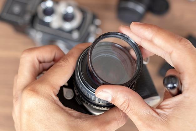 Placer un appareil photo à filtre Photo Premium