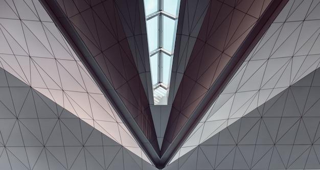 Plafond géométrique avec windows. abstrait Photo Premium