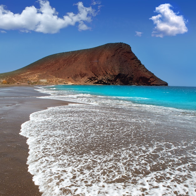 Plage playa de la tejita à tenerife Photo Premium