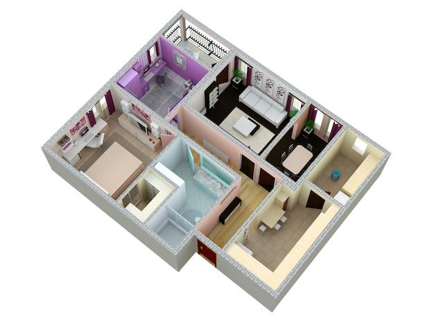 Plan de l'appartement ou de la maison. Photo Premium