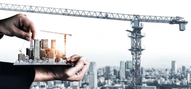 Plan D'architecture Et De Génie Civil Innovant Photo Premium
