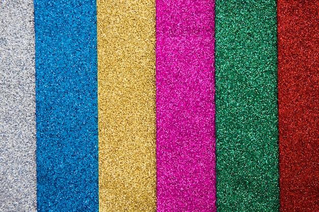 Plan complet de divers tapis multicolores Photo gratuit