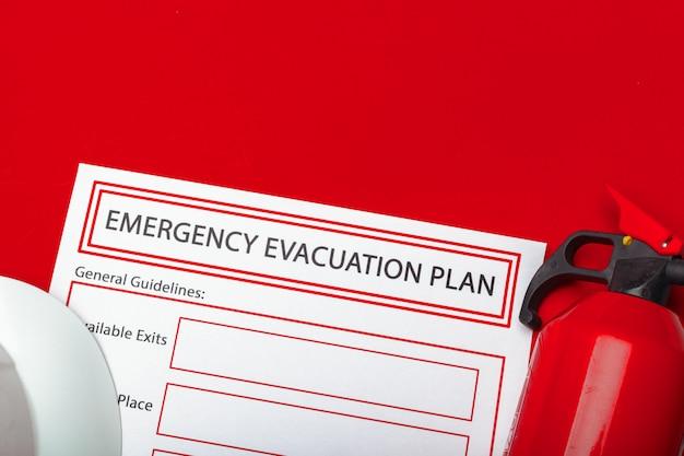 Plan d'évacuation d'urgence Photo Premium