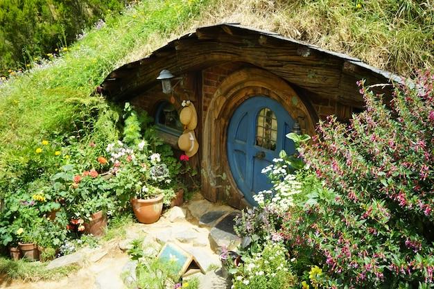Plan Large Du Film Hobbiton Se Déroulant à Matamata En Nouvelle-zélande Photo gratuit