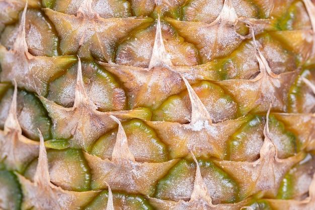 Plan Macro D'ananas Avec Présence Visible De Moisissure Photo Premium