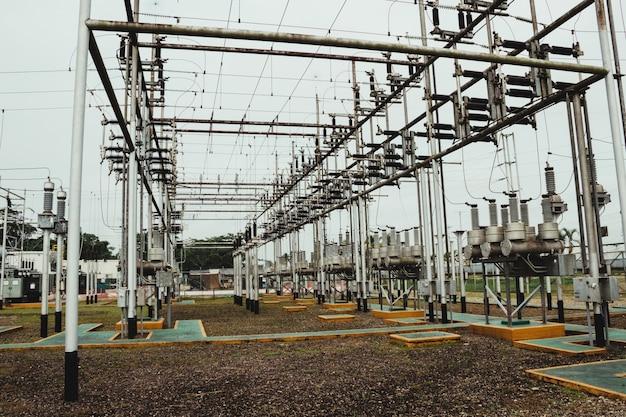 Plan D'une Partie D'une Centrale électrique à Haute Tension Photo gratuit