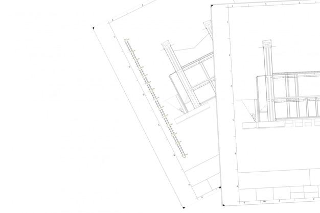 Plan de la pièce du projet architectural sur le livre blanc Photo Premium