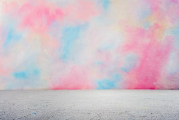 Plan De Travail Avec Aquarelle Colorée Photo Premium