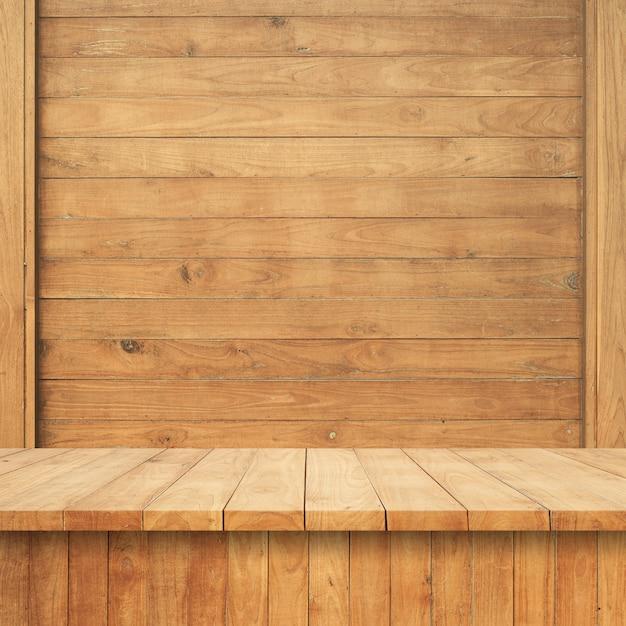 Plancher en bois avec mur en bois Photo gratuit