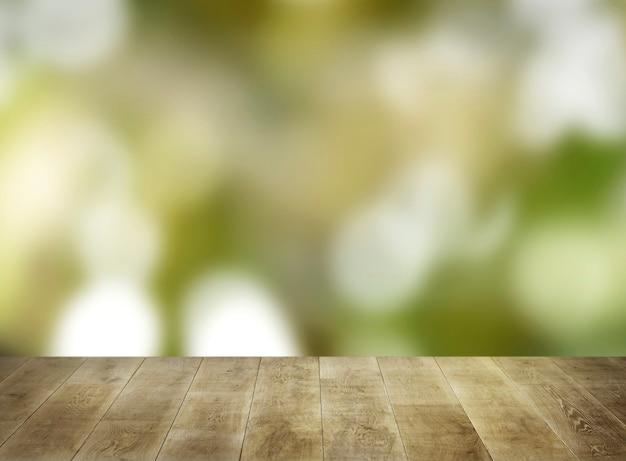 Planches De Bois Beiges Avec Naturel Flou Photo gratuit