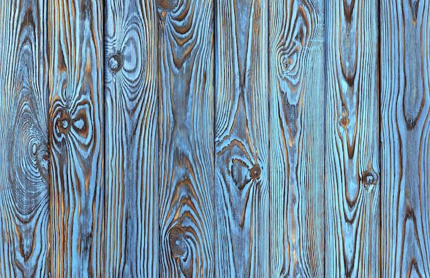 Planches De Bois Bleues, Texture Du Bois De Couleur Bleue Ancienne Et Grunge Photo Premium