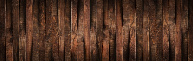 Planches En Bois Brun Rustique Photo Premium