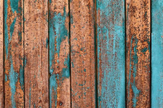 Planches en bois avec des couches de peinture Photo Premium