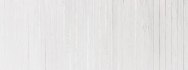 Planches de fond blanc, texture de bois peint pour la conception Photo Premium