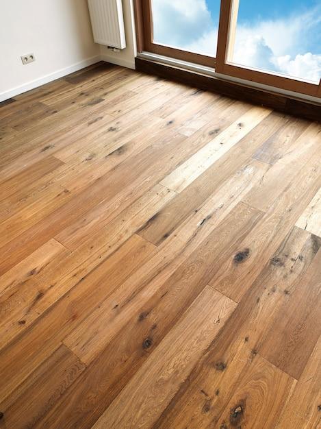 Planches de plancher en bois abstrait Photo Premium