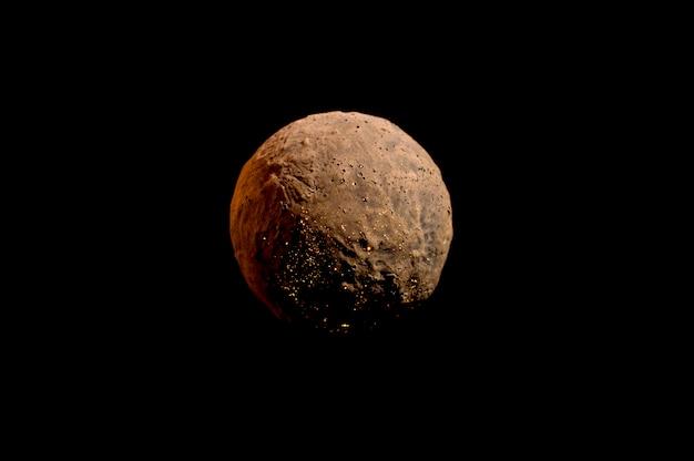 Planète Sans Vie Sur Fond Noir Photo Premium