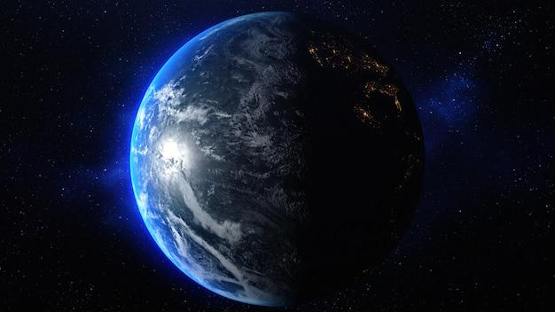 Planète Terre Dans L'espace - éléments De Cette Image Fournie Par La Nasa. Photo Premium