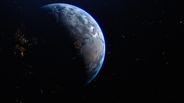 La planète terre dans l'espace Photo Premium