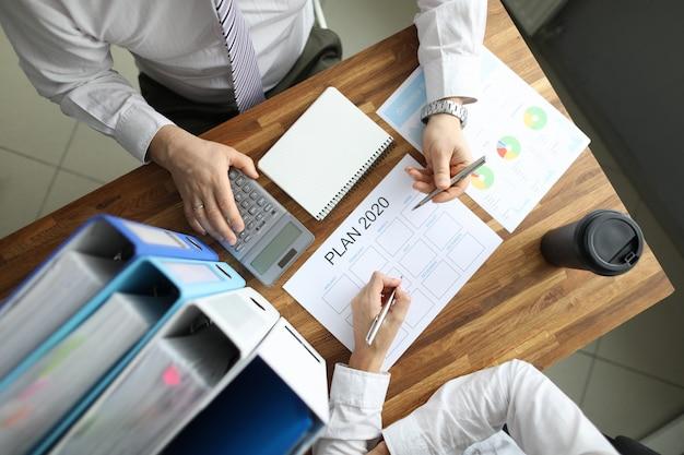 Planification Commerciale De La Stratégie Photo Premium