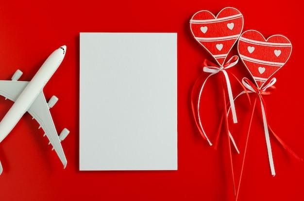 Planification De Voyage Sur Fond De Saint Valentin Photo Premium