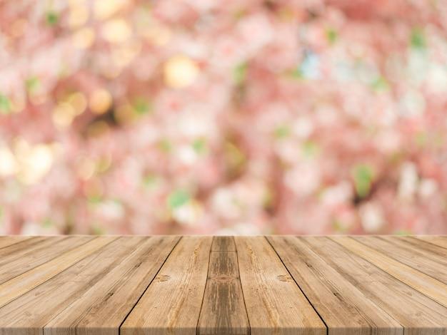 Planks Avec Fond Floral Photo gratuit
