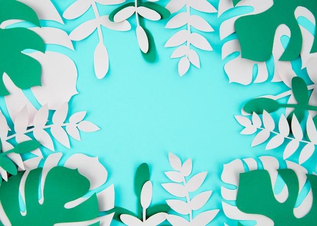 Plantes Tropicales Dans Le Style Du Papier Coupé Photo gratuit