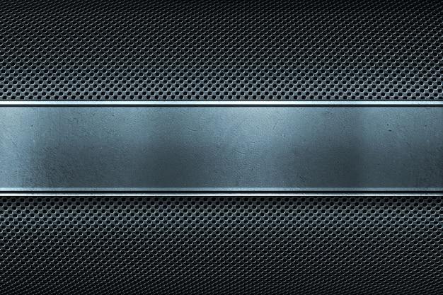 Plaque en métal perforé coloré avec plaque en métal poli Photo Premium