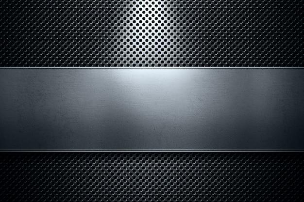 Plaque en métal perforé de couleur moderne abstraite avec métal poli Photo Premium