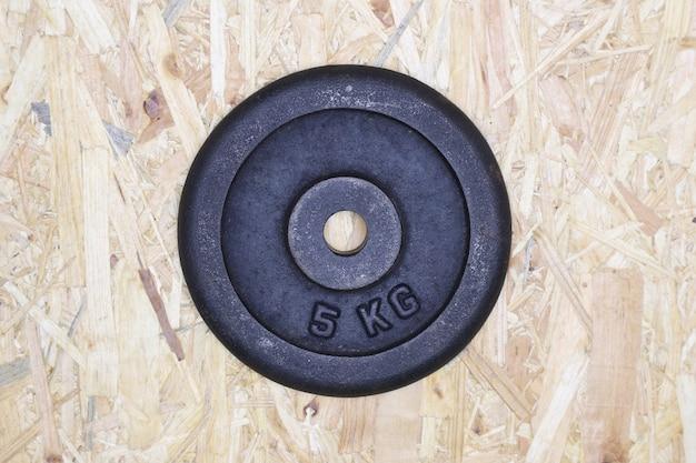Plaque de poids de 5 kilos Photo Premium