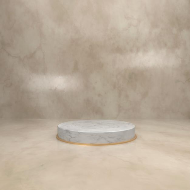 Plateau en marbre pour vitrine de produits Photo Premium