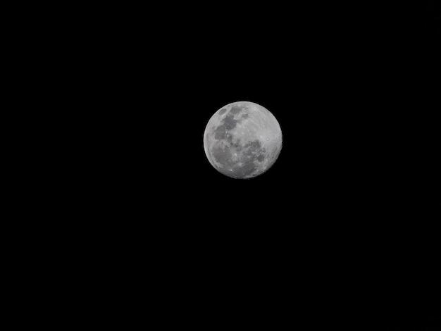 Pleine Lune Dans La Nuit Noire Photo Premium