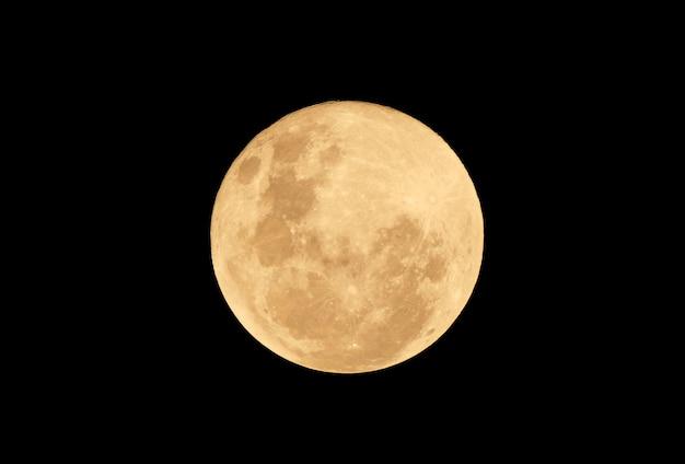 Pleine Lune De Sang Dans La Nuit Noire Photo Premium